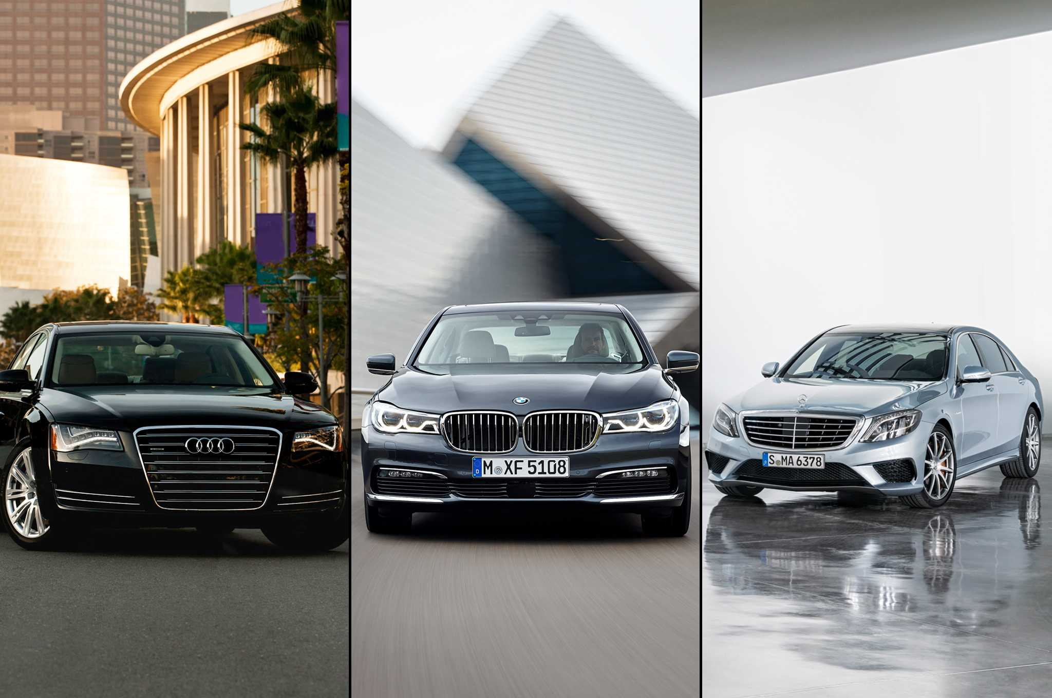 Bmw audi and mercedes benz sedans are more popular than for Bmw mercedes benz