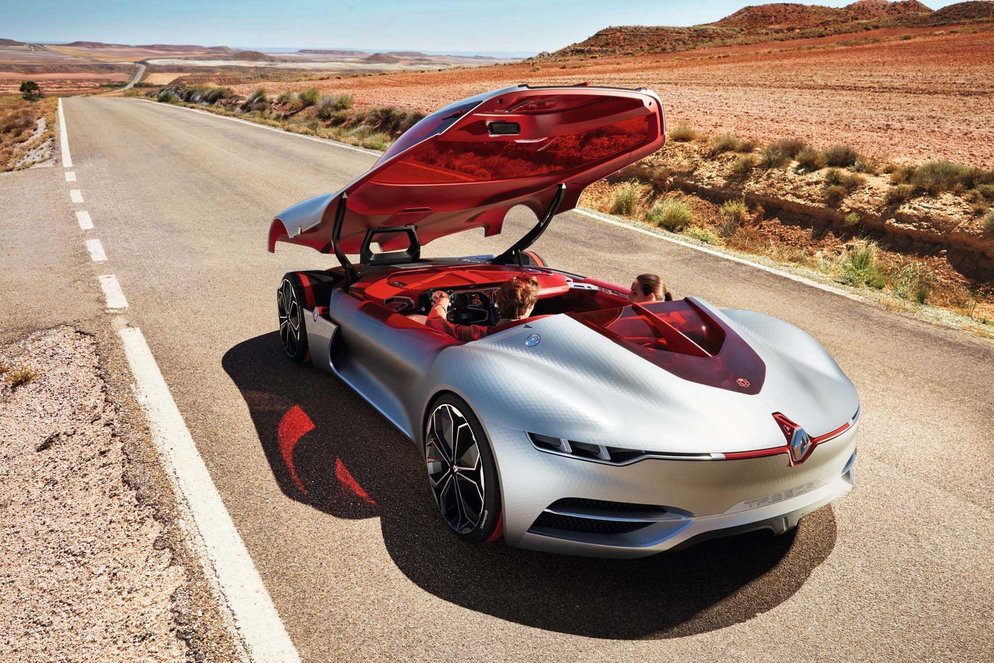 Renault Trezor Concept Model Launched at Paris Auto Show