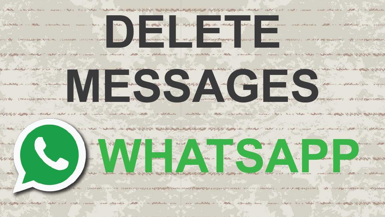 how to delete messgage whatsapp new