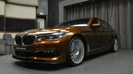 BMW Alpina B7 Gets BiTurbo Individual Chestnut Bronze Colored Variant