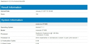 Moto Z 2017 Edition to Feature Snapdragon 835 SoC and 4GB RAM, Geekbench Screenshot Reveals