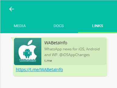 WhatsApp Web links appear in new UI