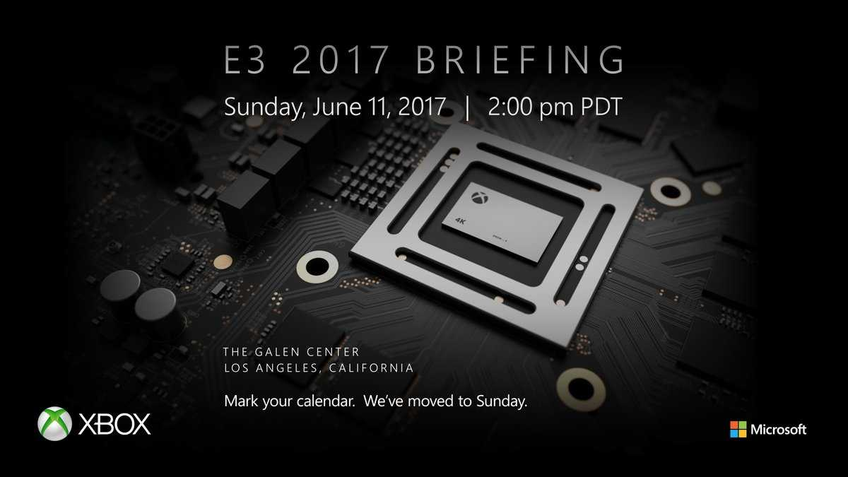 Xbox Scorpio is Confirmed for E3 2017 Reveal, Microsoft Confirms it on Twitter