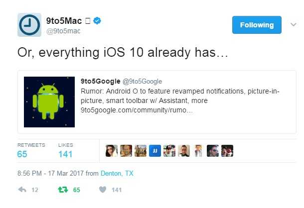 Android 8.0 Rumor Claims OS will Feature Revamped Notifications, PIP Mode, and More – Playing Catchup to Apple iOS 10