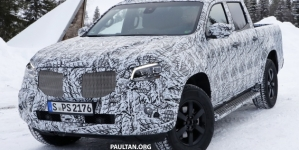 Mercedes Benz X Class Pickup Truck Spy Photos from Winter Test Get Leaked