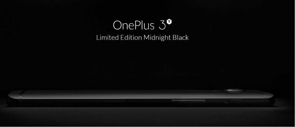 The OnePlus 3T Midnight Black Will Be Available from Early This Morning