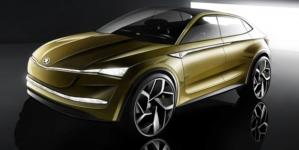 Skoda Vision E Concept Sketches Reveal a 5-Door Electric SUV Set for Shanghai Expo