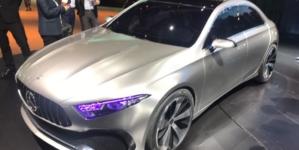Mercedes Benz Concept A Sedan Revealed at 2017 Shanghai Auto Show