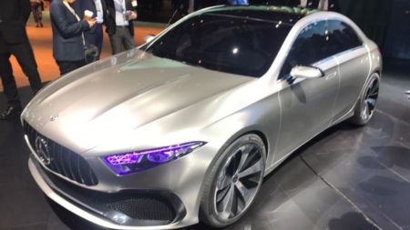 Mercedes Benz Concept A Sedan Revealed at 2017 Shanghai Auto Show