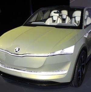 Skoda Vision E Concept Model Production Design Revealed in Special Event