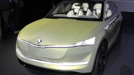 Skoda Vision E Concept Model Production Design Revealed in Special Event