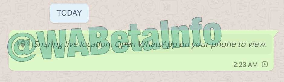 WhatsApp For Android Live Location Sharing