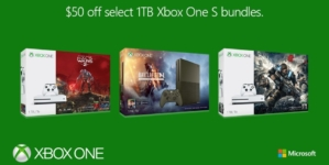 Select Xbox One S 1TB Bundles with Gears of War 4, Halo Wars 2 and Battlefield 1 Goes on Sale